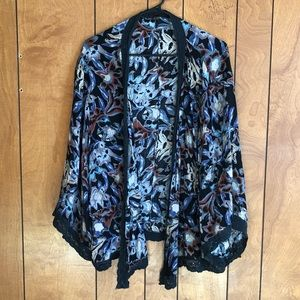 Free People Open Front Coverups Long Sleeve Blouse